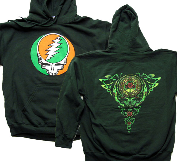 Grateful Dead Hoodie Celtic Knot Hooded Sweatshirt Green