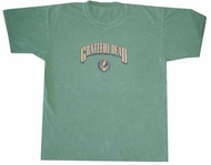 Grateful Dead Shirt Stealie Pigment Dyed Green Tee T-Shirt