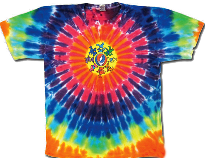 Grateful Dead Shirt Tie Dye Circle Bears Adult Tee T Shirt