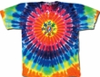 Grateful Dead Shirt Tie Dye Circle Bears Adult Tee T-Shirt