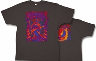 Grateful Dead T-shirt Blues Wall Pigment Dyed Tee Shirt