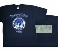 Grateful Dead T-shirt Fillmore 1969 Classic Tour Navy Tee Shirt