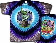 Grateful Dead T-shirt NY Coast to Coast Tie Dye Tee