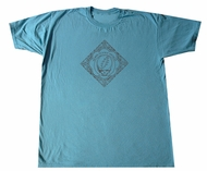 Grateful Dead T-shirt Woodcut 2009 Turquoise Tee Shirt
