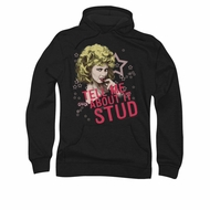 Grease Hoodie Sweatshirt Tell Me About It Stud Black Adult Hoody Sweat Shirt