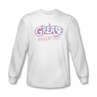 Grease Shirt Grease Is The Word Long Sleeve White Tee T-Shirt