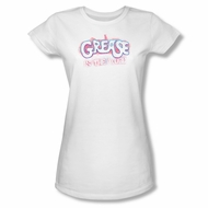 Grease Shirt Juniors Grease Is The Word White Tee T-Shirt