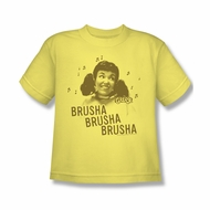Grease Shirt Kids Brusha Brusha Banana Youth Tee T-Shirt