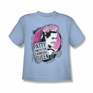 Grease Shirt Kids Carnival Queen Light Blue Youth Tee T-Shirt