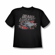 Grease Shirt Kids Greased Lightening Black Youth Tee T-Shirt