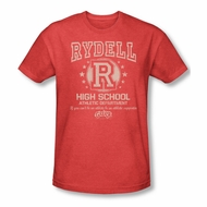Grease Shirt Rydell High Adult Heather Red Tee T-Shirt