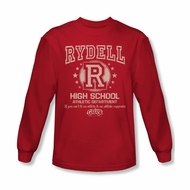 Grease Shirt Rydell High Long Sleeve Red Tee T-Shirt