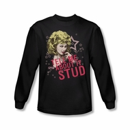 Grease Shirt Tell Me About It Stud Long Sleeve Black Tee T-Shirt