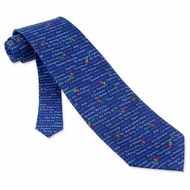 Great Operas Tie Blue Silk Necktie - Mens Music Neck Tie