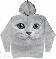 Green Eyed Cat Hoodie Tie Dye Adult Hooded Sweat Shirt Hoody