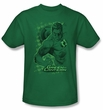 Green Lantern Kids T-shirt Pencil Energy Youth Kelly Green Tee