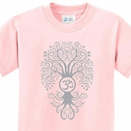 Grey Bodhi Tree Kids Yoga Shirts
