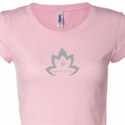 Grey Namaste Lotus Ladies Yoga Shirts
