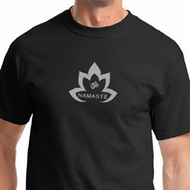 Grey Namaste Lotus Mens Yoga Shirts
