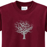 Grey Tree of Life Kids Yoga Shirts