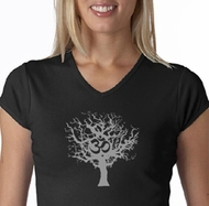 Grey Tree of Life Ladies Yoga Shirts