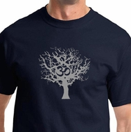 Grey Tree of Life Mens Yoga Shirts