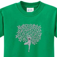 Grey Tree Pose Kids Yoga Shirts