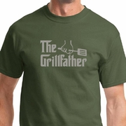 The Grillfather Grey Print Shirts