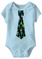 Guitar Tie Funny Baby Romper Light Blue Infant Babies Creeper