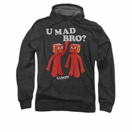 Gumby Hoodie You Mad Charcoal Sweatshirt Hoody