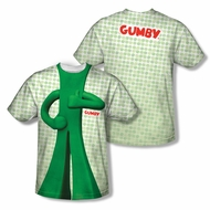 Gumby Shirt Costume Sublimation Youth Shirt Front/Back Print