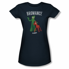 Gumby Shirt Juniors Bromance Navy T-Shirt