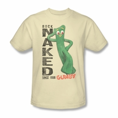 Gumby Shirt Naked Cream T-Shirt