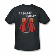 Gumby Shirt You Mad Charcoal T-Shirt