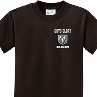 Guts and Glory Ram Logo Pocket Print Kids Shirts