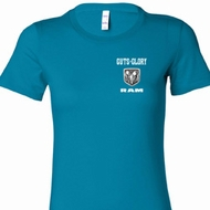 Guts and Glory Ram Logo Pocket Print Ladies Shirts