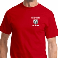 Guts and Glory Ram Logo Pocket Print Mens Shirts