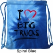 Gym Bag I Love Big Trucks Tie Dye Bag