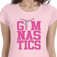 Gymnastics Text Ladies Shirts
