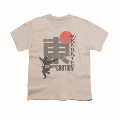 Hai Karate Shirt Kids Sword Cream T-Shirt