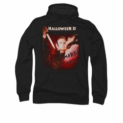 Halloween II Hoodie Sweatshirt Nightmare Black Adult Hoody Sweat Shirt