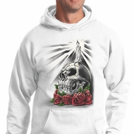 Halloween Day of the Dead Candle Skull Hoodie