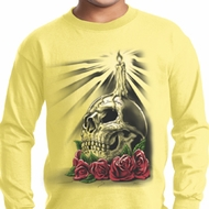 Halloween Day of the Dead Candle Skull Kids Long Sleeve Shirt