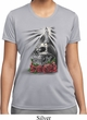 Halloween Day of the Dead Candle Skull Ladies Moisture Wicking Shirt