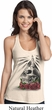 Halloween Day of the Dead Candle Skull Ladies Natural T-Back Tank Top