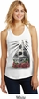 Halloween Day of the Dead Candle Skull Ladies White Racerback Tank Top