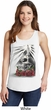Halloween Day of the Dead Candle Skull Ladies White Tank Top