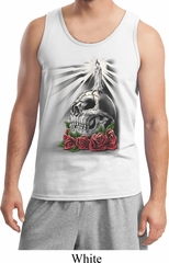 Halloween Day of the Dead Candle Skull Mens Tank Top