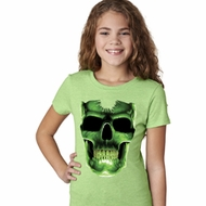 Halloween Glow Bones Girls Shirt