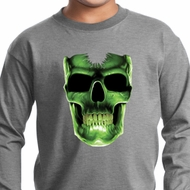 Halloween Glow Bones Kids Long Sleeve Shirt